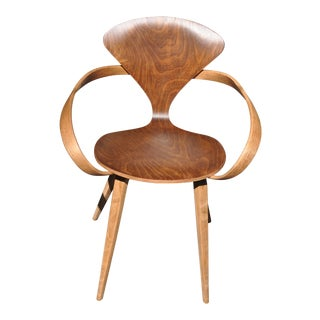 Vintage Cherner Style Modernist Bent Plywood Butterfly Chair For Sale