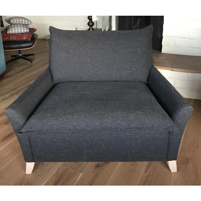2010s West Elm- Down Filled Wide Lounge Chair For Sale - Image 5 of 5