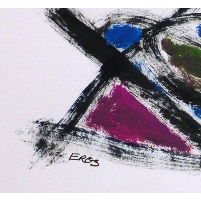 Eros French Abstract Painting Dynamic Geometric Shapes And Movement