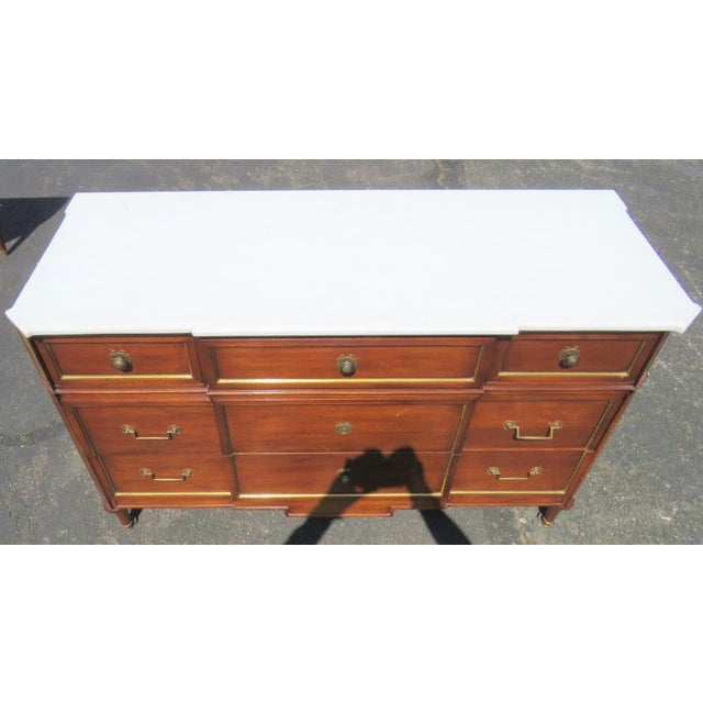 Jansen Louis XV Style Marbletop Commode For Sale - Image 5 of 5