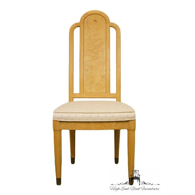 """HENREDON Scene Two Burled Olive Splat Back Dining Side Chair 9600-28 6 available, priced each. 42.5"""" High 19.75"""" Wide 23""""..."""