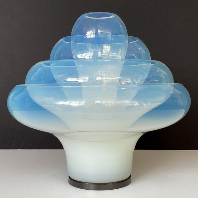 "1970s Carlo Nason ""Lotus"" Table Lamp for Mazzega For Sale - Image 5 of 13"