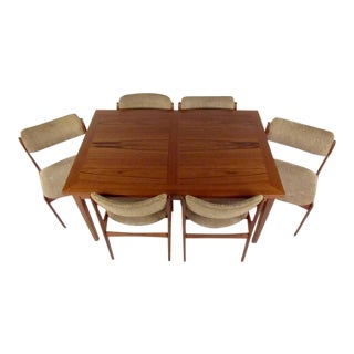 Mid-Century Skovby Teak Dining Table and Six OD Mobler Chairs For Sale