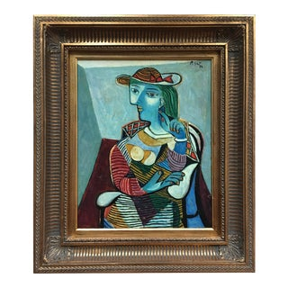 Picasso Style Peter Keil Painting For Sale