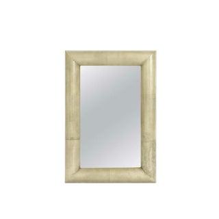 1980s Karl Springer Goatskin Mirror For Sale