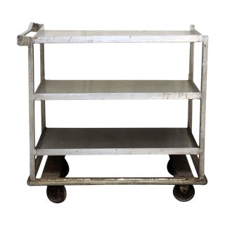 Industrial Rolling Cart with Handle Bar For Sale