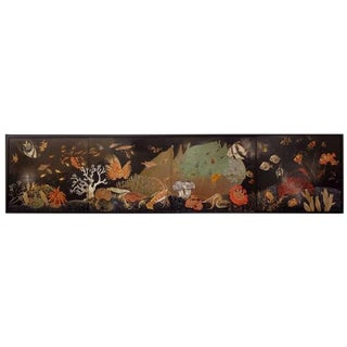 Jean Dunand Important Four Piece Wall Panel in Eggshell Lacquer France circa 1930 For Sale