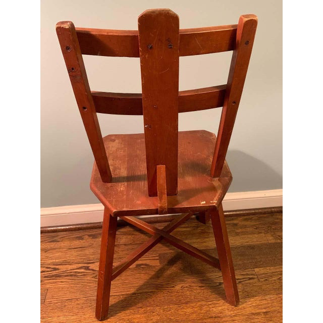 Primitive Pair of Cherrywood Side Chairs in the Manner of Jean Touret For Sale - Image 4 of 11