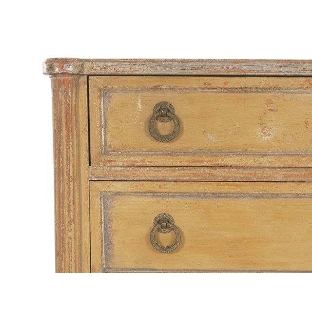 Wood Circa 1940s French Louis XVI Style Antique Painted Desk Over Chest of Drawers For Sale - Image 7 of 13