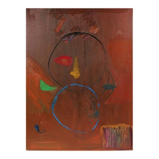 Michael di Cosola Large Abstract Oil Painting in Rust, 1971 For Sale