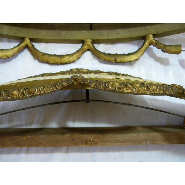 Antique Bed Corona Headboards - A Pair - Image 3 of 6