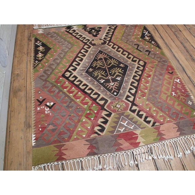 1950s Small Chal Kilim For Sale - Image 5 of 5
