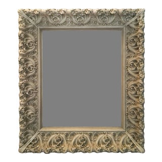 Spanish Art Nouveau Picture Frame in Wood and Gesso, Ca.1880 For Sale