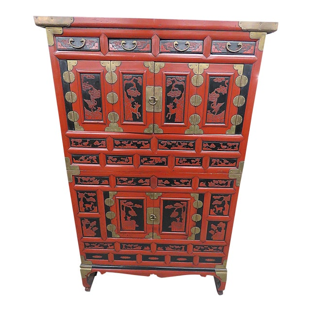 Antique Asian Cabinet - Antique Asian Cabinet Chairish