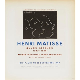 Henri Matisse, Musee National d'Art Moderne, 1959, Lithograph For Sale