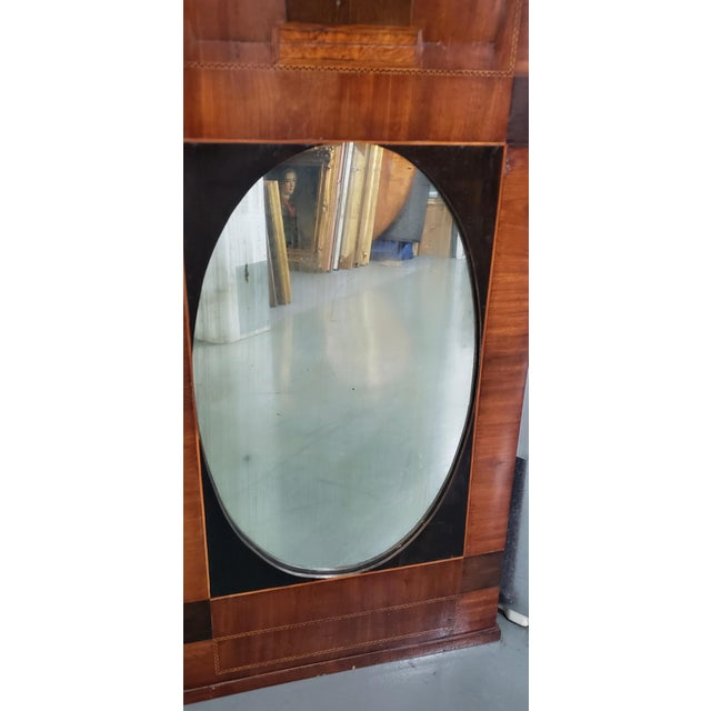 Biedermeier Early 19th Century Walnut & Mahogany Biedermeier Mirror C.1830s For Sale - Image 3 of 8