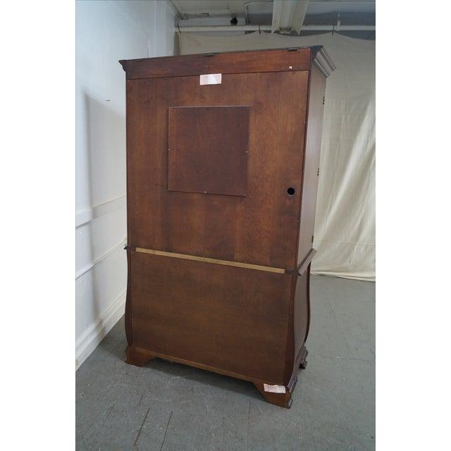 Henkel Harris Mahogany Bombe Base Bedroom Armoire For Sale - Image 4 of 10