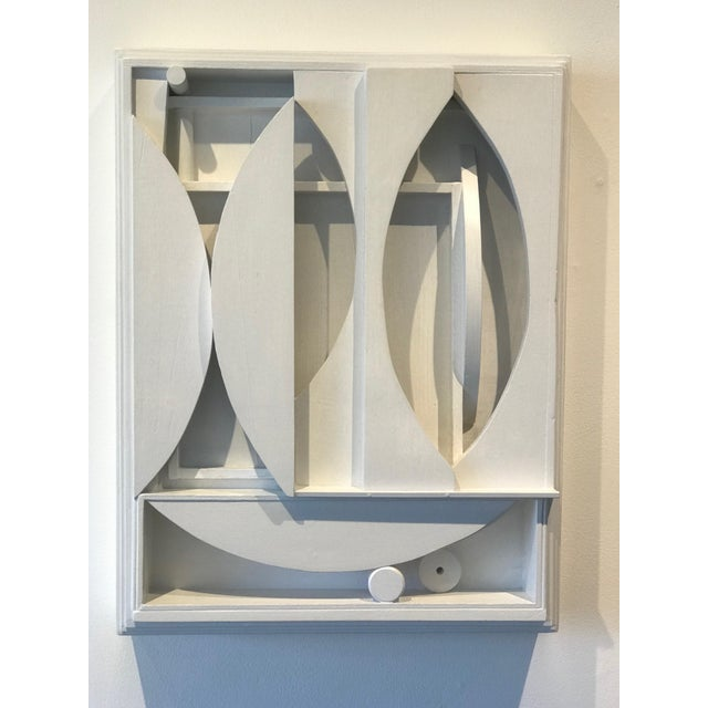 Louise Nevelson White Wall Sculptural Wooden Box For Sale - Image 4 of 4