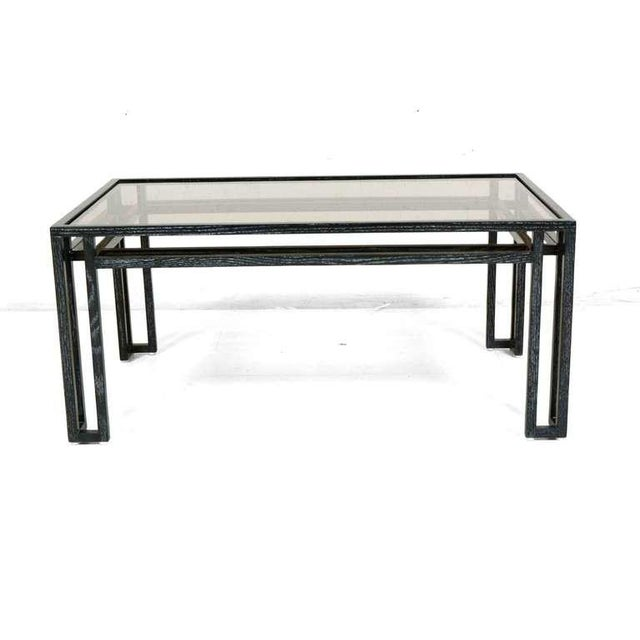 1960s Mid-Century Modern Cerused Oak Coffee Table For Sale - Image 5 of 6