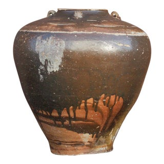 Antique Stoneware Martaban Jar For Sale