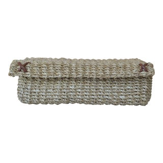 Pigeon & Poodle Woven Hand Towel Holder For Sale