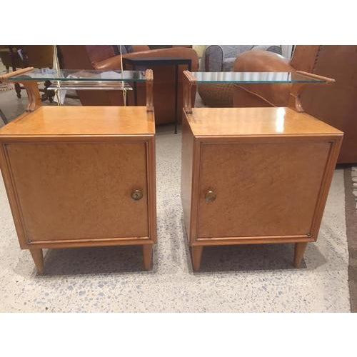 Vintage Mid-Century Nightstands, France, a Pair For Sale - Image 4 of 8
