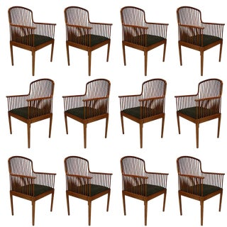 "Set of 6 Stunning Davis Allen for Knoll ""Exeter"" Spindle Dining or Office Chairs For Sale"