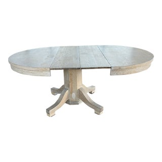 Vintage Cerused Oak Extendable Dining Table For Sale