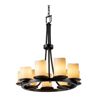 Justice Designs Faux Candle Chandelier For Sale