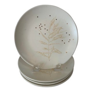 "Thomas O'Brien Snow Leaf Ivory 8"" Salad Plates - Set of 4 For Sale"