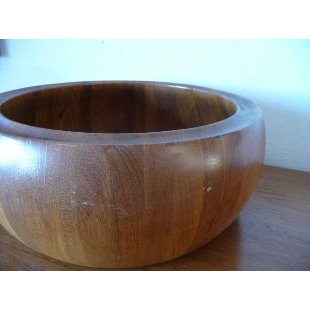 Brown 1960s Danish Modern Digsmed Teak Bowls - a Pair For Sale - Image 8 of 10
