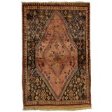 Image of 1970s Vintage Persian Qashqai Rug - 3'5'' X 5'3'' For Sale