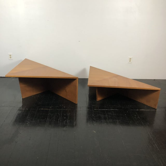 Danish Laurits M Larsen Teak Triangle Coffee Tables - a Pair For Sale - Image 9 of 13