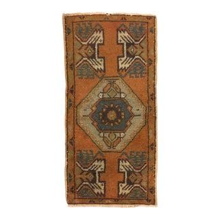 Vintage Anatolian Handmade Carpet - 1′7″ × 3′3″