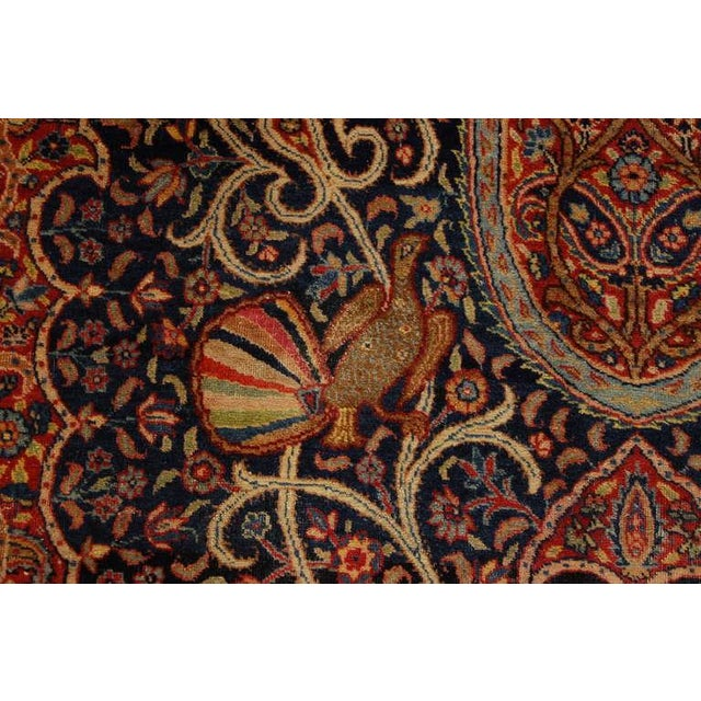 """Antique """"Bird-Of-Paradise"""" Persian Tabriz Rug - 6′3″ × 8′10″ For Sale - Image 4 of 6"""
