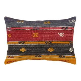 "Pasargad Vintage Turkish Kilim Pillow- 16"" X 24"""