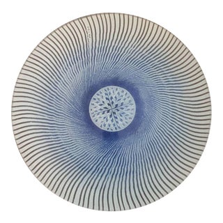 Mid-Century Maurice Heaton Art Glass Charger For Sale