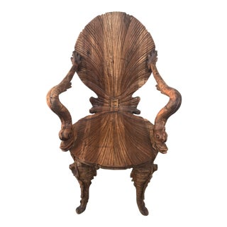 19th Century Italian Antique Grotto Chair For Sale