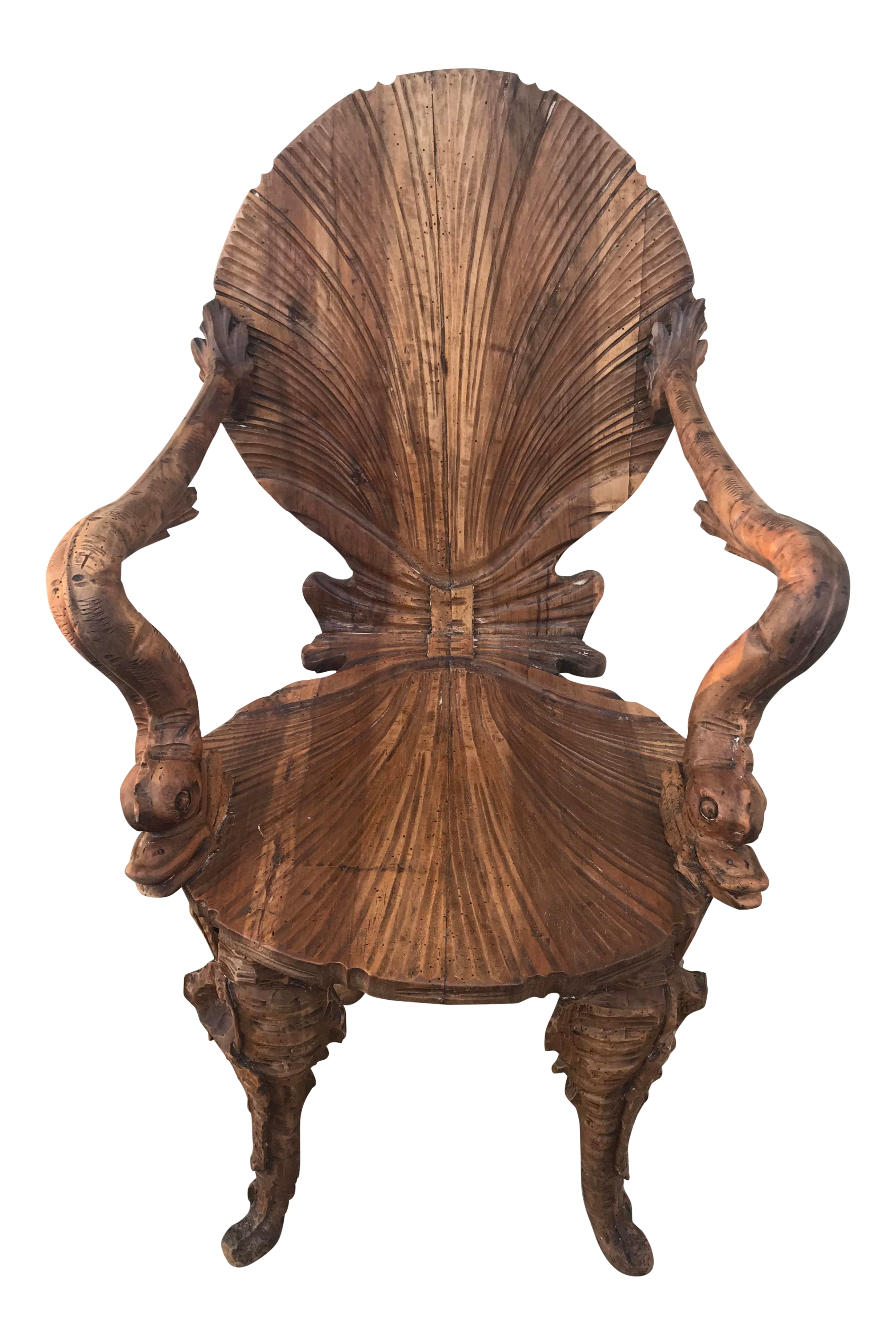 19th Century Italian Antique Grotto Chair