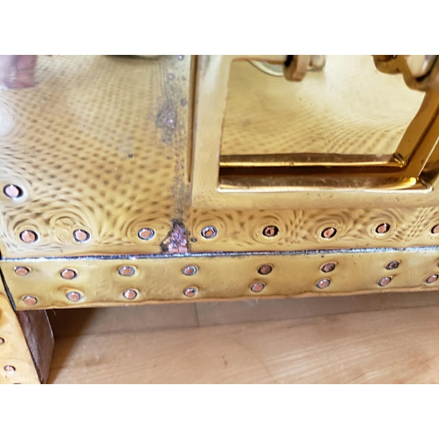 1970s Hollywood Regency Sarreid Brass 3 Drawer Chest For Sale - Image 9 of 11