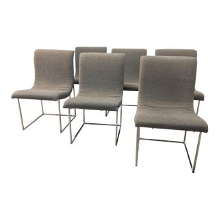 Mid Century Modern Thayer Coggin Milo Baughman Scoop Dining Chairs- Set of 6 For Sale