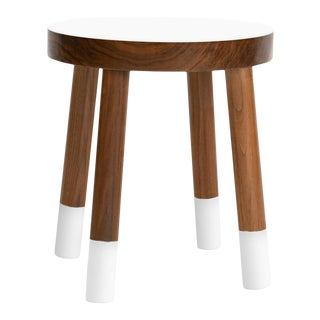 Poco Kids Chair in Walnut With White Finish For Sale