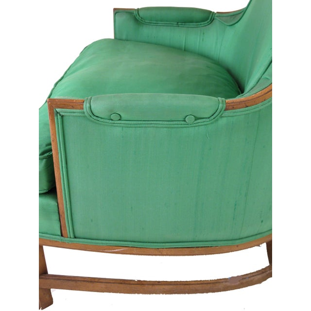 Mid-Century Emerald Highback Lounge Chair - Image 6 of 6