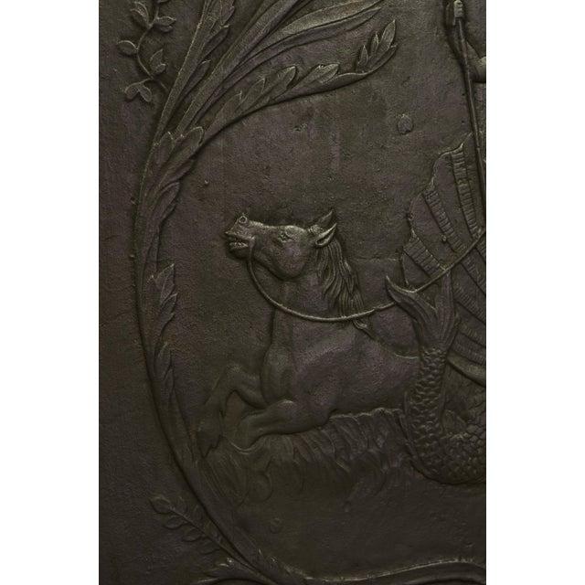 "Louis XVI Antique Fireback, Showing Poseidon ""God of the Seas"" For Sale - Image 3 of 4"