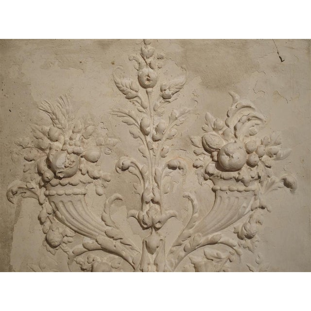 Plaster Bas Relief Cornucopia Panel From France For Sale - Image 4 of 9