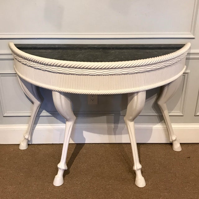 Black Dickinson Style Modern Lacquered Hoof Foot Console For Sale - Image 8 of 9