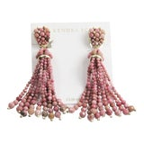 Image of Kendra Scott Cecily Pink Rhodonite Gemstone Earrings For Sale