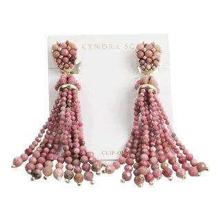 Kendra Scott Cecily Pink Rhodonite Gemstone Earrings For Sale