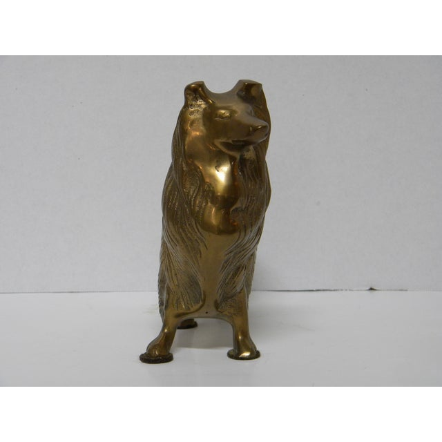 Traditional Vintage Brass Sheltie For Sale - Image 3 of 4