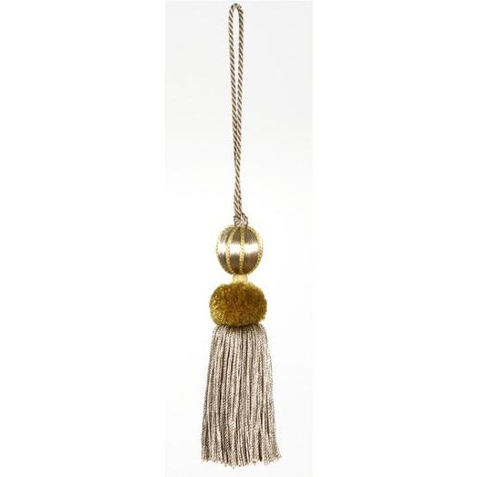Merrivale Gold Beaded Key Tassel - H 4.5 Inches For Sale - Image 4 of 8